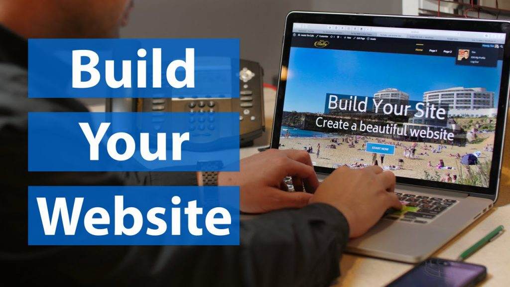 building a site with wordpress